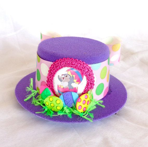 Thumper Bunny Easter Hat  Mini Top Hat In Purple by hatandmouse, $22.50