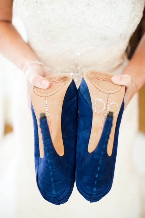 blue suede wedding shoes! // photo by Candice Benjamin