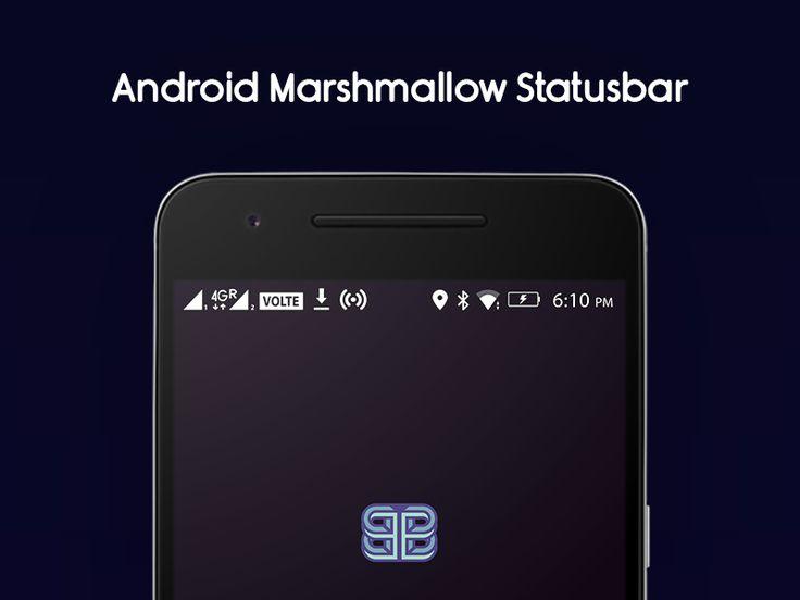 Android Marshmallow Status Bar Icons Freebie by Bharath Selvaraj