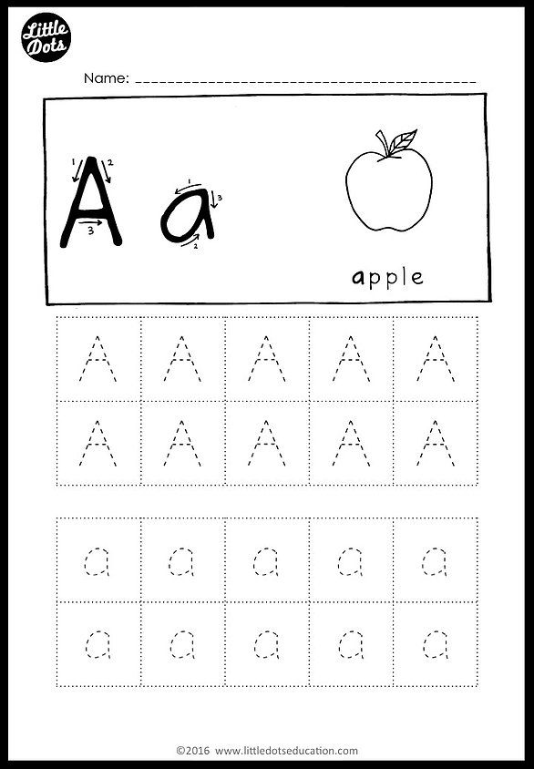 Free Alphabet Tracing Worksheets | Little Dots Education ...