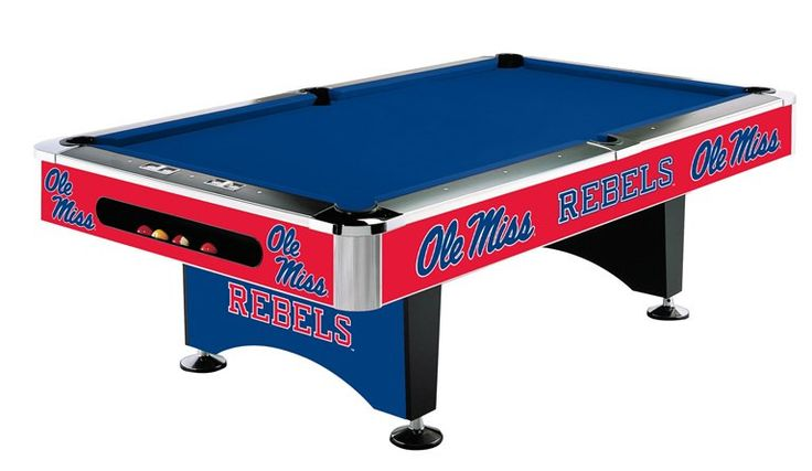 University Of Mississippi 8 Pool Table
