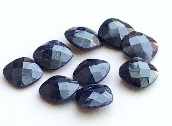 Blue Corundum Cabochons Corundum Rose Cut Blue by gemsforjewels