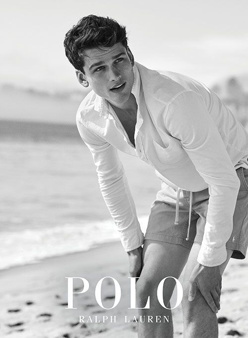 Simon Nessman shot in Malibu by Josh Olins for the Polo Ralph Lauren Spring 2017 Campaign