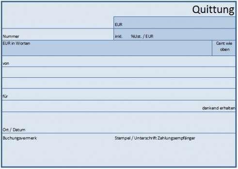 Kostenlose Vorlage Quittung Lexoffice 13