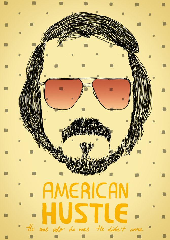 Made by Marianne Lock / Alternative Movieposter / American Hustle / Film / Poster / FOR SALE