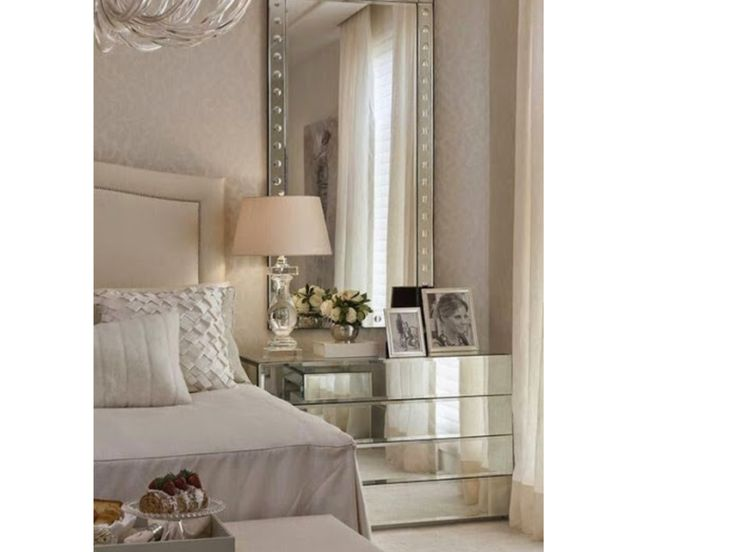 Bedroom Decor With Mirrors best 25+ mirror behind nightstand ideas only on pinterest | small