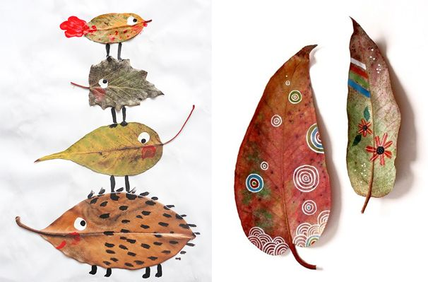As if Fall leaves are not beautiful enough…well here are some great painted leaf designs!
