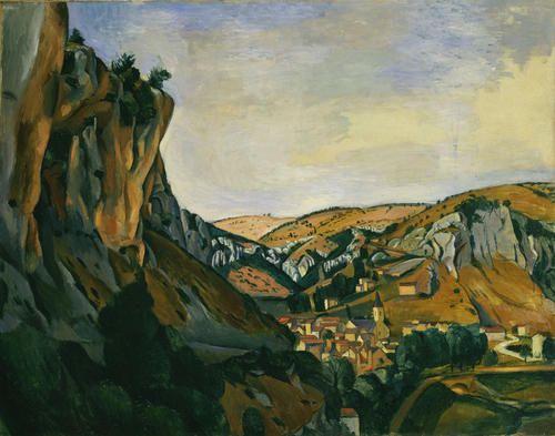 'Tal des Lot in Vers', öl von André Derain (1880-1954, France)