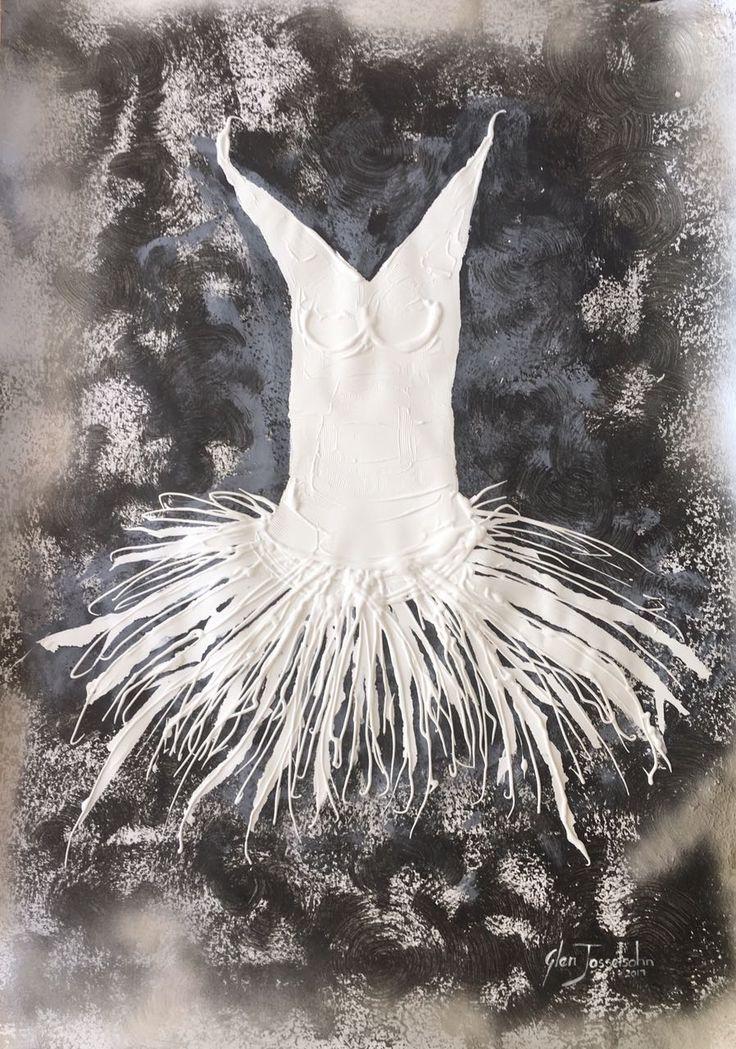 White Ballet on paper 120cm x 70cm