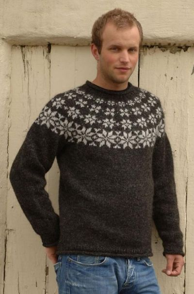 Islandsk stjernesweater i lett-lopi