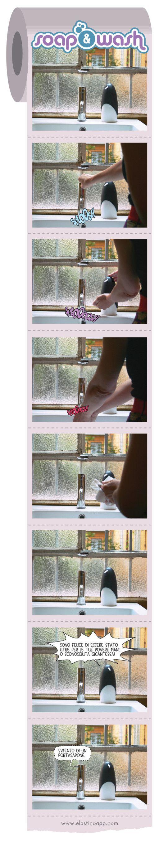 Se pensate che ogni convivenza abbia le sue difficoltà, provate a mettere insieme un portasapone logorroico e un rubinetto burbero. Ogni lunedì… le avventure di Soap&Wash.  NELLE PUNTATE