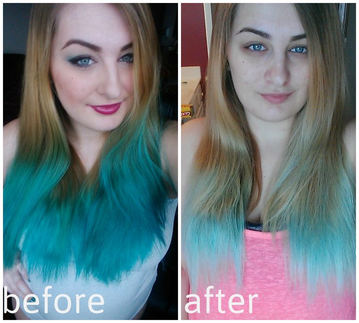 Hair DIY: How I Removed Stubborn Blue and Green Semi-Permanent Hair Dye From My Hair