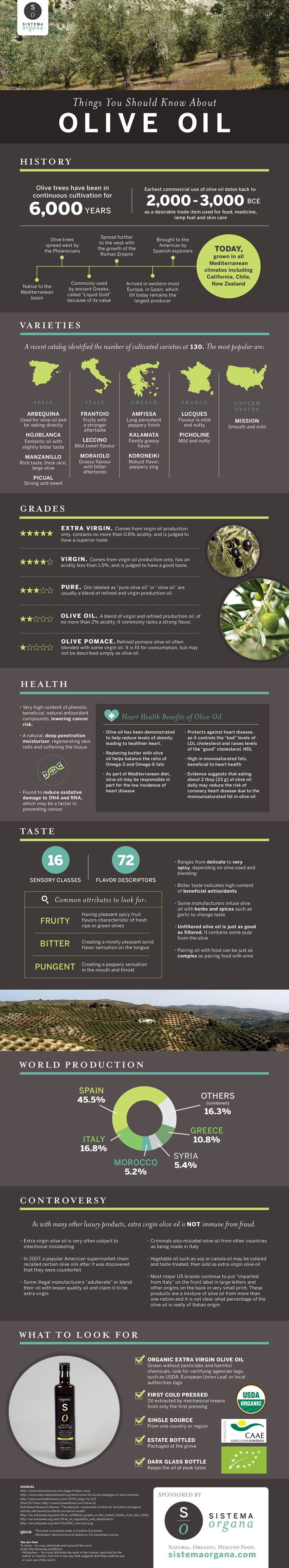 Things You Should Know About Olive Oil #infographic