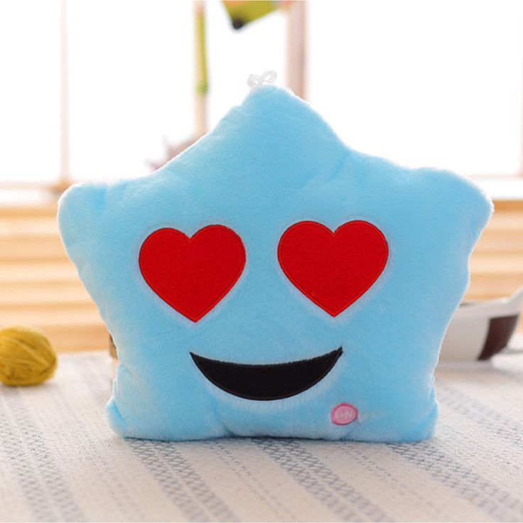 BH Heart Eyes Emoji Color-changing LED Plush Pillow