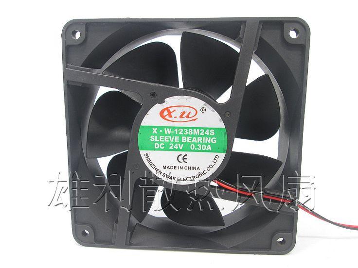 Free Delivery.X.W X.W-1238M24S 24V 0.30A 12038 12CM 2 wire welder cooling fan #Affiliate