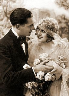 flapper bride by Lilly's Lace, via Flickr