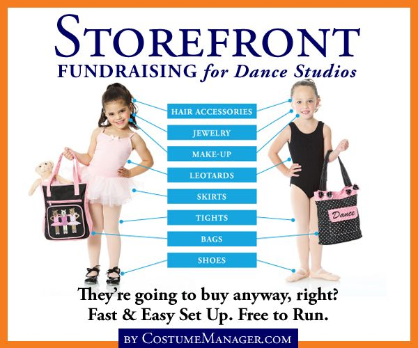 Storefront Fundraising for Dance Studios Now this is an idea