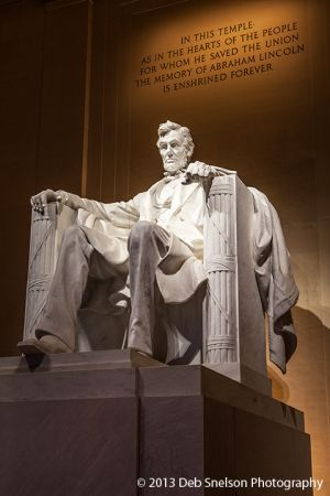 Lincoln statue, Lincoln Memorial, Washington DC  | Deb Snelson Photography