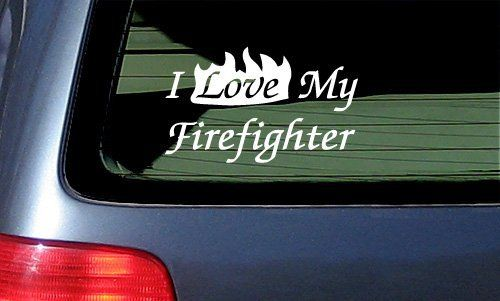 I Love My Firefighter Vinyl Sticker Decal - White by Stickermatic, http://www.amazon.com/dp/B002IK95F6/ref=cm_sw_r_pi_dp_Hhaesb108X6HT