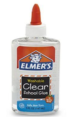 Elmer's clear glue for slime
