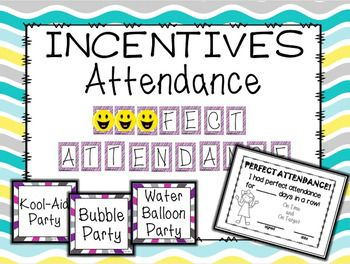 GREAT way to motivate and recoginize attendance.