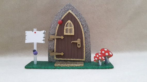 Freestanding Fairy Door, Opening Glitter Fairy, elf door, Shelf Sitting, Room Decor, Fairy Kit, Fairy Accessories, Role Play, Childrens room