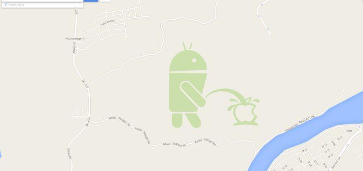 Android urinando na Maçã? Clique na foto para saber mais.