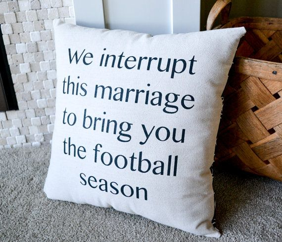 This is a great pillow to have in your home if you have a football lover! Perfect pillow for a mancave or a gift for anyone who loves sports!
