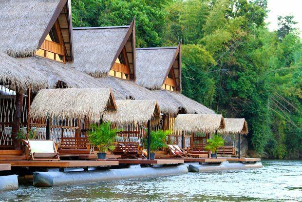Drijvende villa's River Kwai - MrsNomad & Kids