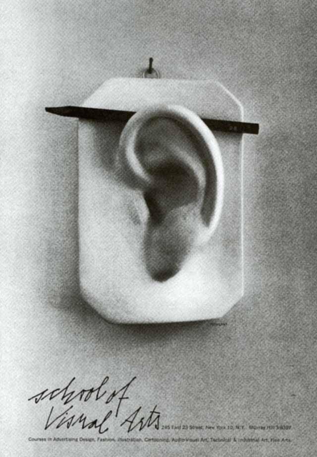 George Tscherny, School of Visual Arts Poster, 1960. New York. Via aiga.org