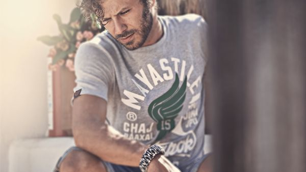 Mayastile® Poktapok Graphic T-shirt #men's #photographer #pool #model #playadelcarmen #man #bear #sofienmez #mayastile #photo #echoenmexico #summer