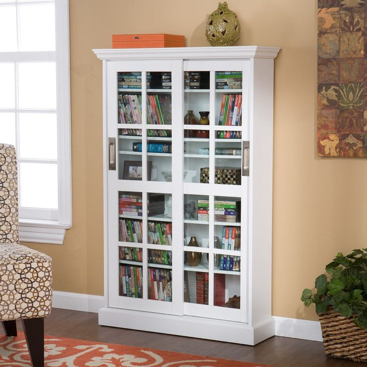 Cd Storage Cabinet With Sliding Glass Doors