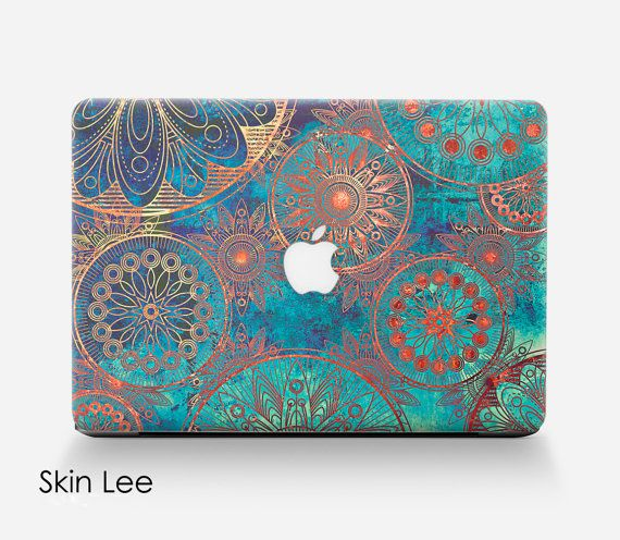 Macbook vinyl sticker, 'Bohemian' pattern (many more in shop) £14.99 in SkinLee on Etsy.