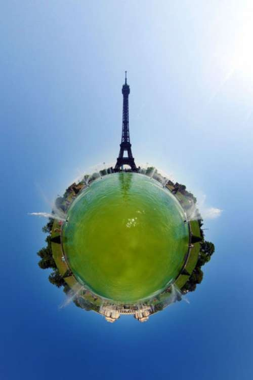 Stereographic Projection Photography - Stereographic projection photos are 360 degree by 180-degree panorama projected which gives off the illusion like you're looking at small planets.
