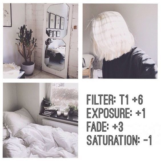 black and white Instagram feed VSCO filter T1