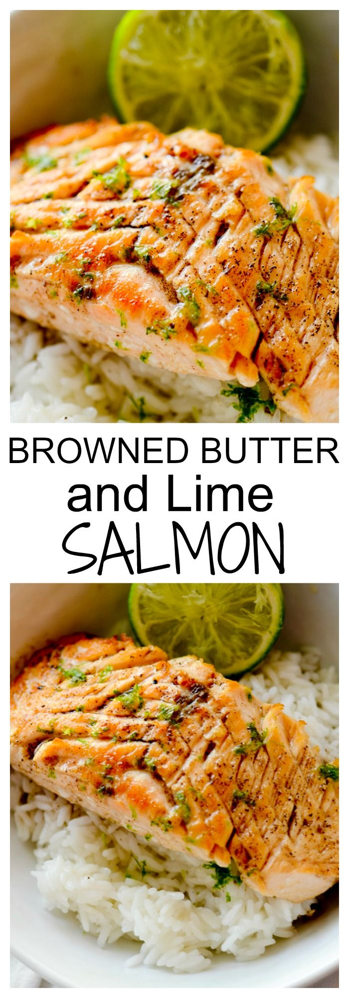 Brown Butter and Lime Salmon with Garlic and Honey - Recipe Diaries