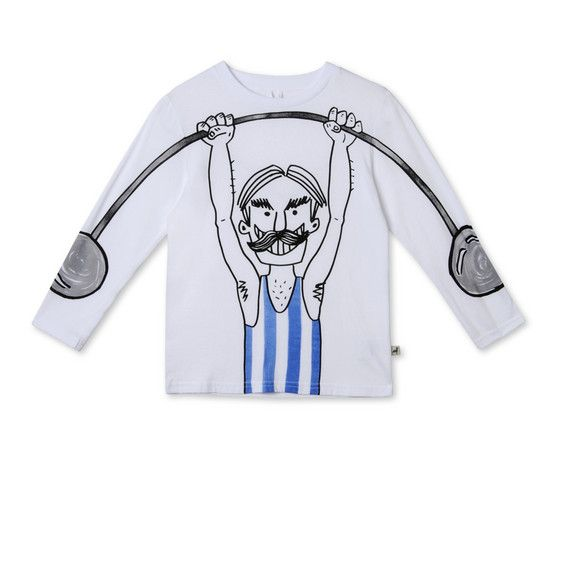 Shop the White Barley Strong Man T Shirt  by Stella Mccartney Kids at the official online store. Discover all product information.