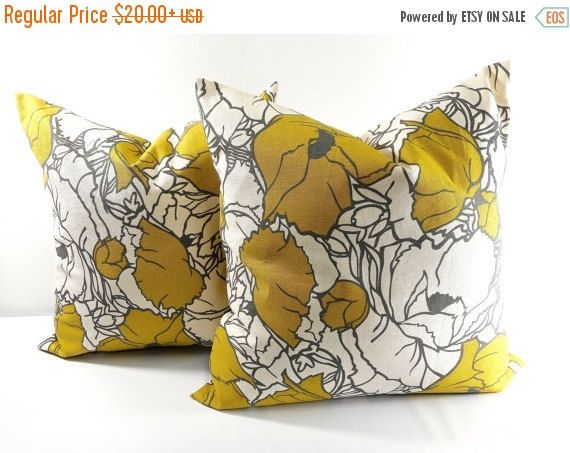 SALE ENDS SOON Citrine Natural Pillow by TwistedBobbinDesigns