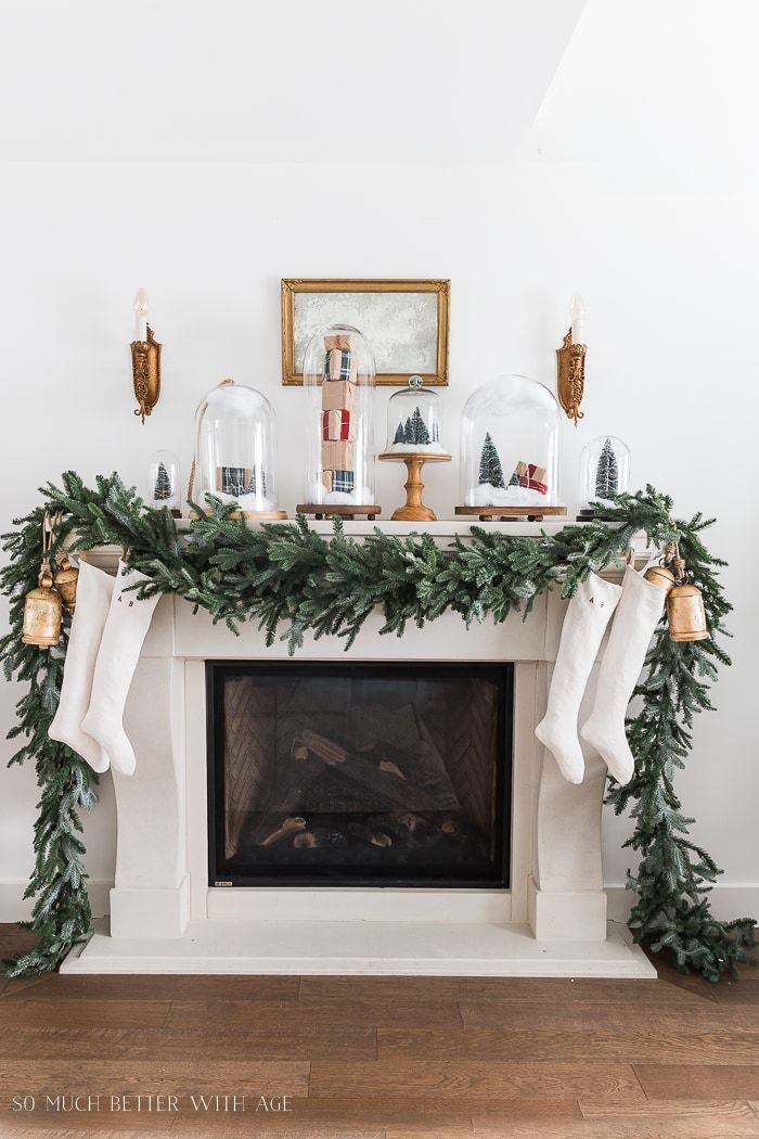 christmas-mantel-decorating-ideas - Home Style Saturdays: Christmas Decor Galore! Christmas Board
