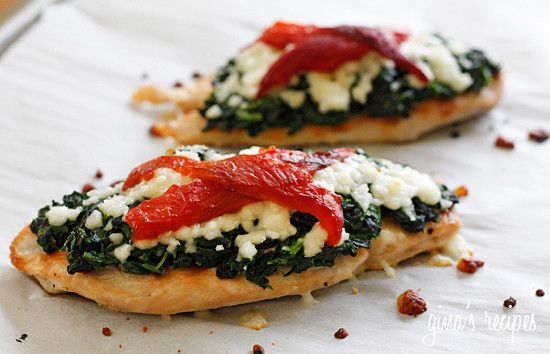 Grilled Chicken with Spinach and Melted Mozzarella – Skinnytaste