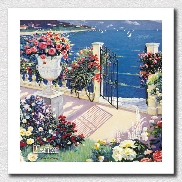 Пляжный домик картина маслом картина пейзаж печать на холсте картин для украшения дома подарок для детей / 24 '' x 24 ''
