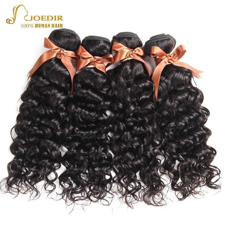 Joedir Hair Peruvian Water Wave Bundles Wet And Wavy Human Hair Weave Bundles 4 Bundles Deal Non Remy Doeble Weft