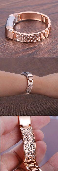 "bayite Jewelry Bangle For Fitbit Alta, Adjustable Bracelet, 5.5"" - 7.2"" Color: Rose Gold"