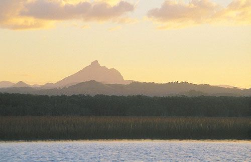 Mount Warning the first place to hit the sun in Australia - Beautiful