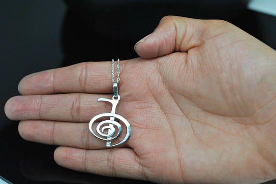 Cho-Ku-Rei Sterling Silver. 925 Reiki Pendant. meaningful