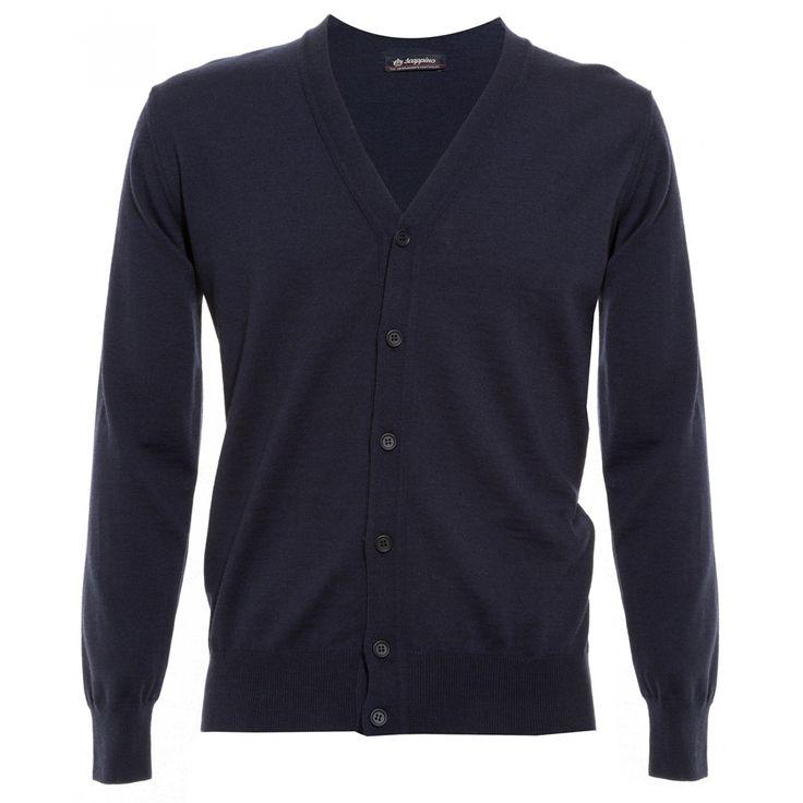 Sweater Scappino de corte recto en tejido de punto botonadura a tono al frente y bordes acanalados.