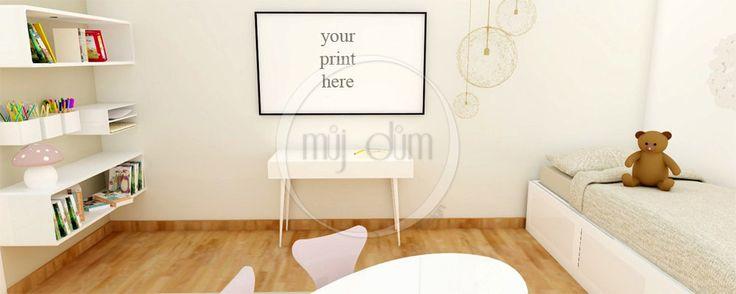 Chambre, Mockup, photographie de Stock, usage Commercial, scène de chambre, cadres photo vides, Frame maquette de la boutique mujdumwall sur Etsy