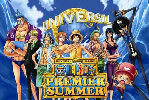 During the latest episode of the One Piece anime, which is episode 599, an advertisement was aired to promote the Universal Studios Japan One Piece Summer Campaign. (Can this tour in America someday? DANG!)
