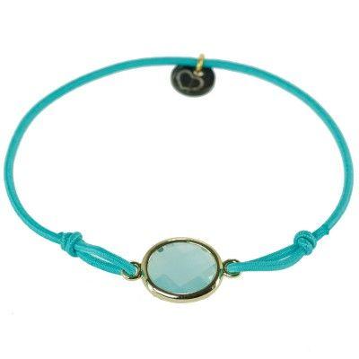 "Lua - Armband ""Leath"" - Gold/Mint"