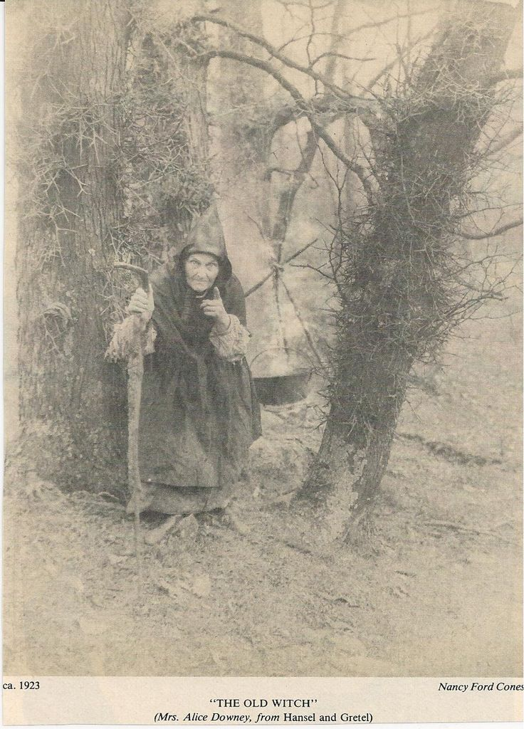 """The Old Witch"" (Mrs. Alice Downey)   by Nancy Ford Cones, ca. 1923"